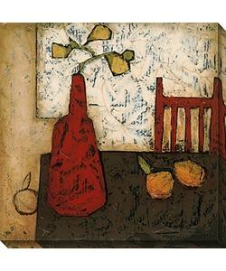 Gallery Direct DeRosier 'Vase with Fruit III' Canvas Art