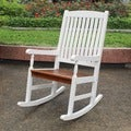 International Caravan Rocking Chair with UV Paint Antiqued Finish