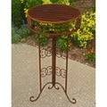 International Caravan 33-inch Round Plant Table (Indoor)