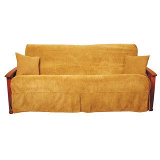 Blazing Needles Jacquard Chenille Skirted Futon Slipcover Set