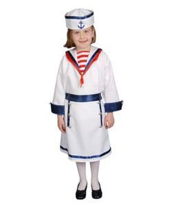Deluxe Sailor Girl Children's Costume Set