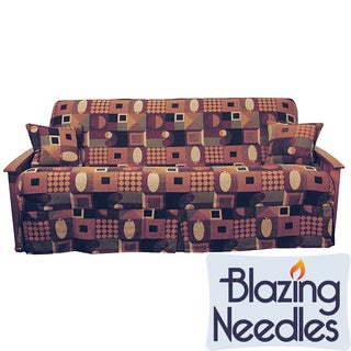 Blazing Needles Jacquard Chenille Skirted Slip Cover Package (Set of 3)