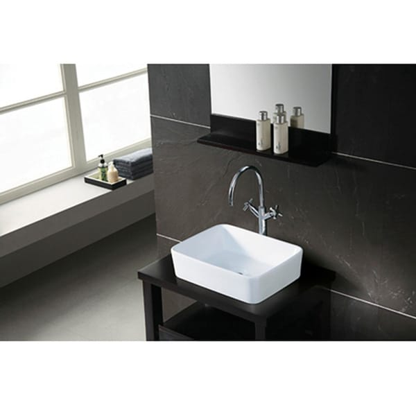 French Petite White Vessel Sink - 10796845 - Overstock.com Shopping ...