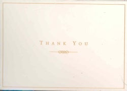 Gold/Cream: Thank You (Cards)