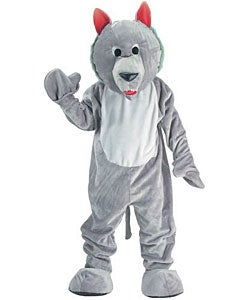 Hungry Wolf Mascot Adult Costume