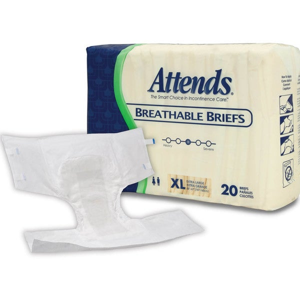 Attends Extra Large Breathable Brief (Case of 60)