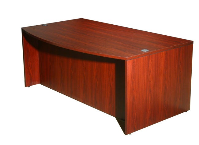 Boss Mahogany Bow-front Desk