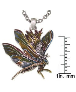 CGC Dragonfly and Fairy Pewter Pendant