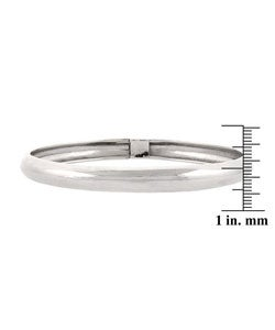 Mondevio Sterling Silver Shiny Flex Bangle Bracelet
