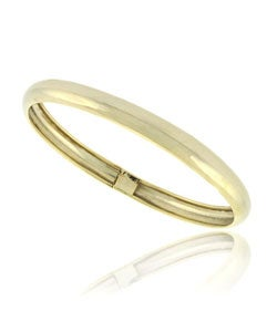 Mondevio 18k Gold Over Sterling Silver Flex Bangle Bracelet