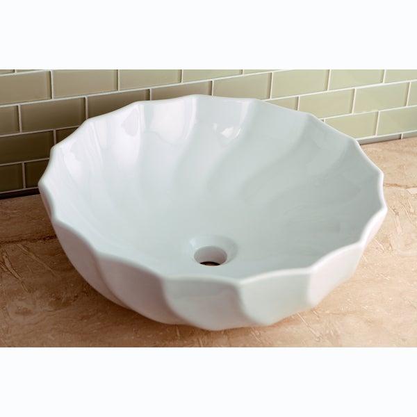 Vitreous White China Single Basin Vessel Sink