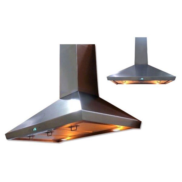 Cavaliere-Euro 36-Inch Six-Speed Wall Mount Range Hood