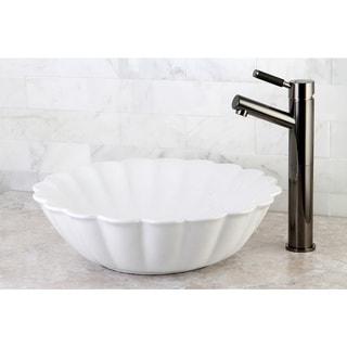Vitreous White China Vessel Sink