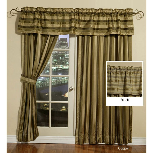 LCM Home Fashions Silk Stripe Window Valance at Sears.com
