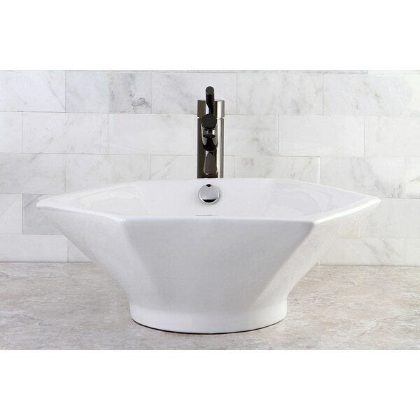 Blue And White Vessel Sink : Polaris Sinks P058W White Granite Vessel Sink