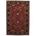 Hand-tufted Tarana Red Wool Rug (5' x 8')