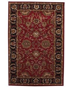 Hand-tufted Tarana Red Wool Rug (8' x 10'6)