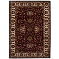 Hand-tufted Teresa Burgundy Wool Rug (5' x 8')