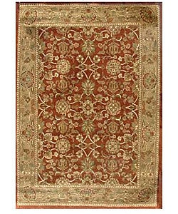 Hand-tufted Narena Rust Wool Rug (5' x 8')