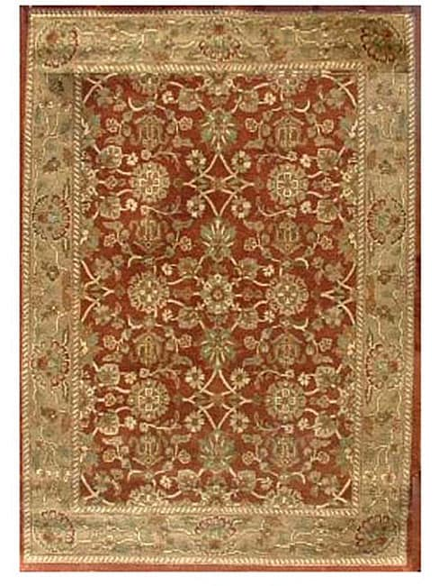 Hand-tufted Narena Rust Wool Rug (8' x 10'6)