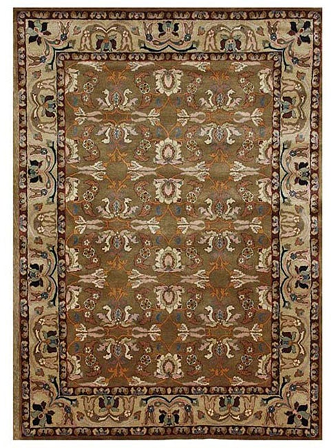 Hand-tufted Kamela Brown Wool Rug (5' x 8')