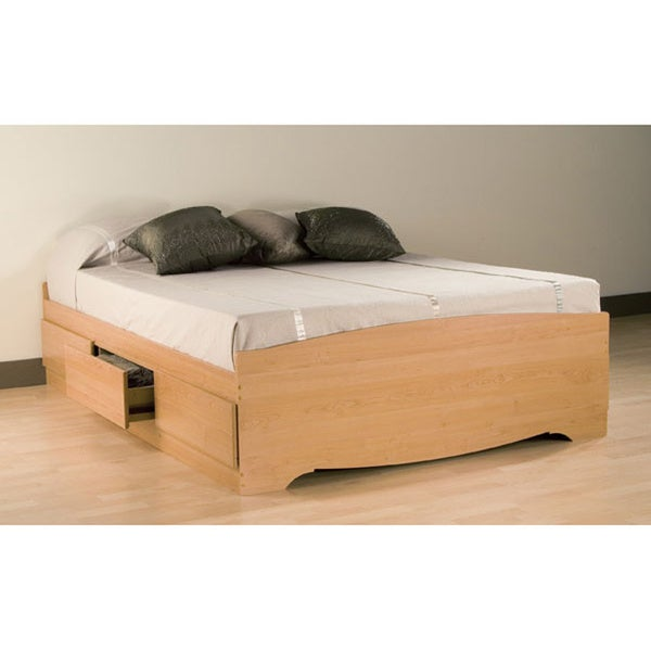 Montego Maple Full/ Double Platform Storage Bed
