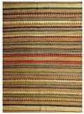 Hand-woven Sindhi Green Jute Rug (4' x 6')