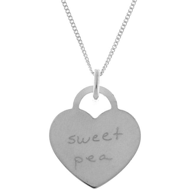 Sterling Essentials Sterling Silver Tween Sweet Pea Necklace