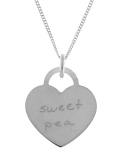 Sterling Essentials Sterling Silver Tween Sweet Pea Necklace