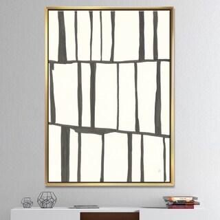 Designart 'minimalist black and white I' Transitional Framed Canvas
