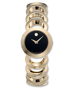 Movado Womens' 0605528 Rondiro Goldplated Quartz Watch