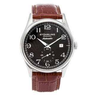 Stuhrling Original Cuvette Ultra-slim Date Watch