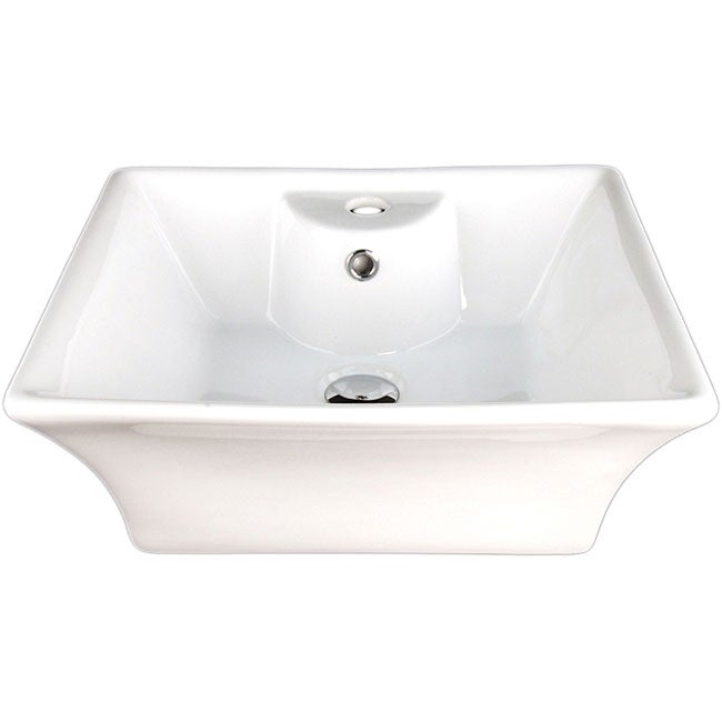 Fontaine Flared Rectangular Porcelain Bathroom Vessel Sink