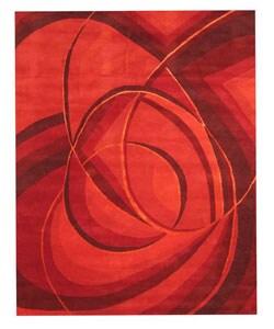 Hand-tufted Mina Red Wool Rug (7'9 x 9'9)