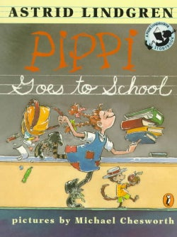 Pippi Goes to School (Paperback)