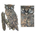 'Curious Owl' Iron Wall Adornment (Mexico)