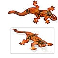 Cave Art Gecko Iron Wall Adornment (Mexico)