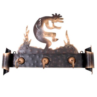 Kokopelli Serenade Iron Coat Rack, Handmade in , Handmade in Mexico