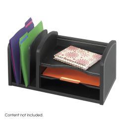 Safco Faux Leather 3-shelf Organizer