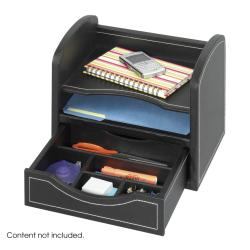 Safco Faux Leather Desk Organizer
