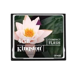 Kingston 4GB Compact Flash Memory Card
