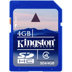 Kingston 4GB Secure Digital (SD) Memory Card