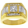 Simon Frank 14k Gold Overlay Beau Diamond Simulant CZ Ring