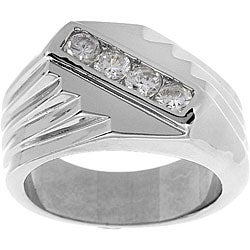 Simon Frank 14k Gold Men's CZ Ring