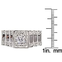 Simon Frank 14k Gold Overlay Men's Crown CZ Ring