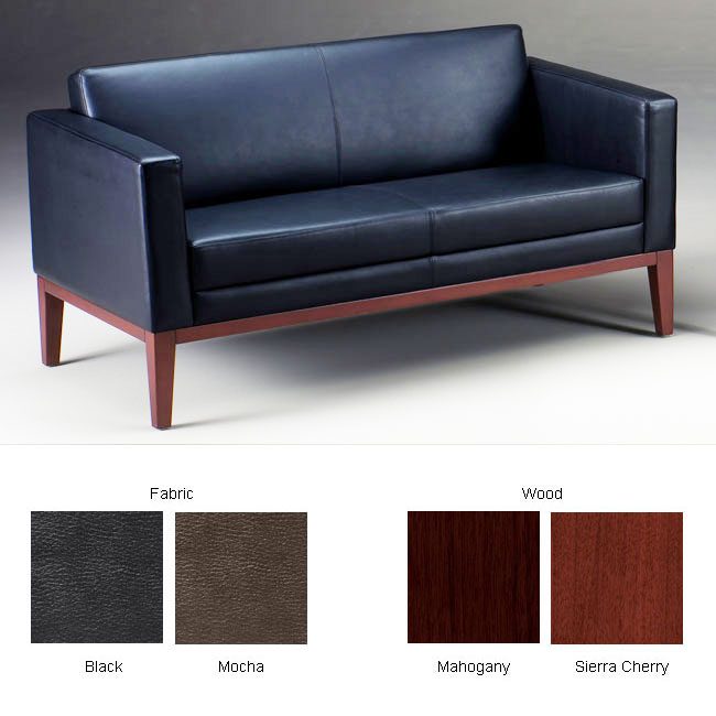 Mayline Prestige Leather Settee