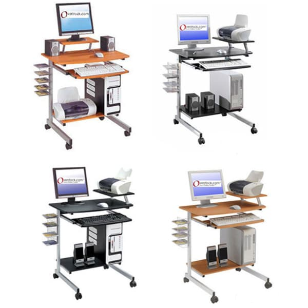 Ergonomically Designed Space Saver Computer Desk