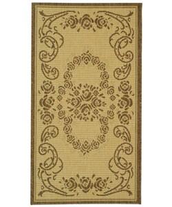 Safavieh Indoor/ Outdoor Garden Natural/ Brown Rug (2' x 3'7)