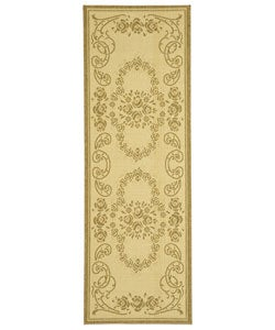 Safavieh Indoor/ Outdoor Garden Natural/ Brown Runner (2'4 x 6'7)