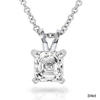 Annello 14k White Gold Diamond Necklace (H-I, SI1-SI2)